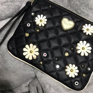 Black floral Betsey Johnson purse